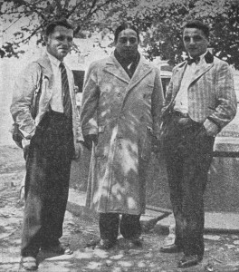 Yogananda with two brothers of Therese Neumann