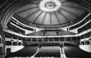 Los Angeles Philharmonic Auditorium around 1920.